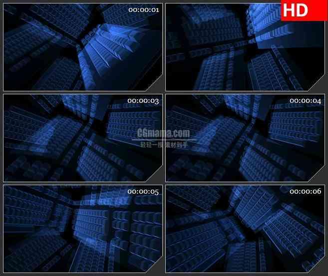 BG2441蓝色荧光键盘旋转高清led大屏视频背景素材