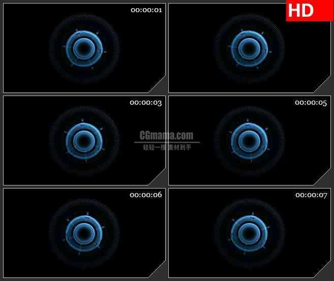 BG2445蓝色荧光粒子圆球旋转高清led大屏视频背景素材