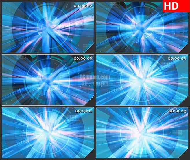 BG2459绿色光束旋转高清led大屏视频背景素材