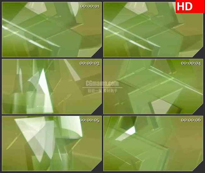 BG2460绿色几何形光影旋转高清led大屏视频背景素材