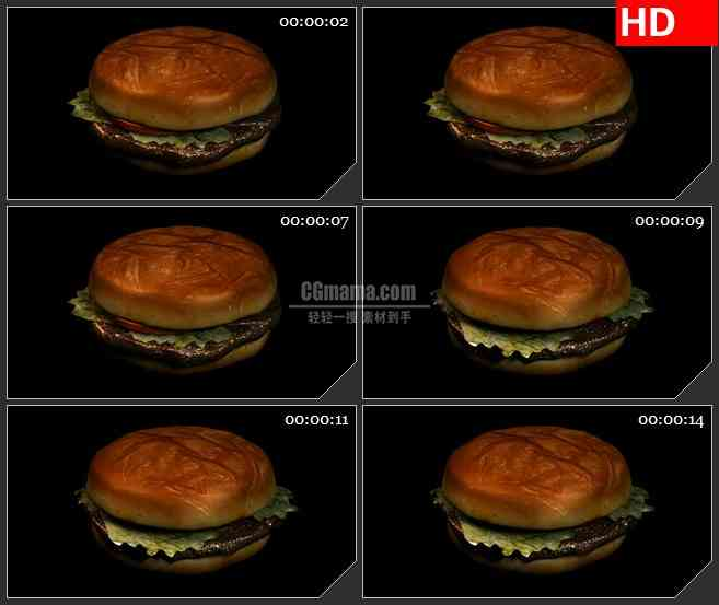 BG2468牛肉汉堡旋转高清led大屏视频背景素材