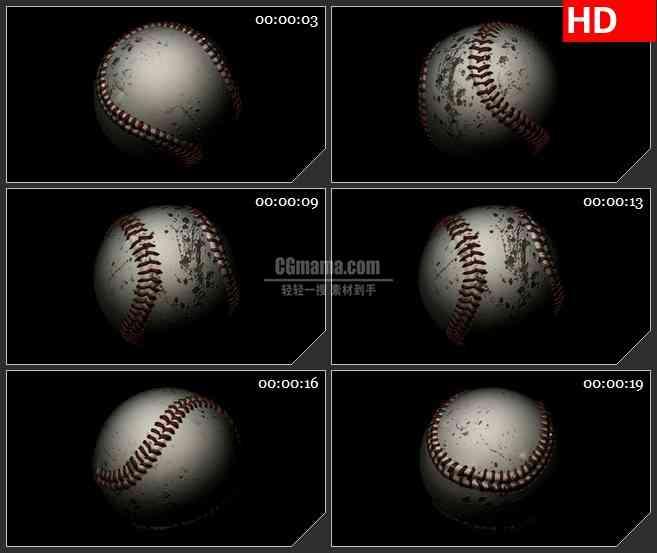 BG2472破旧棒球旋转高清led大屏视频背景素材