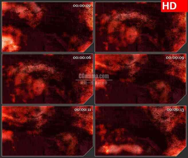 BG2482燃烧的红色岩石高清led大屏视频背景素材