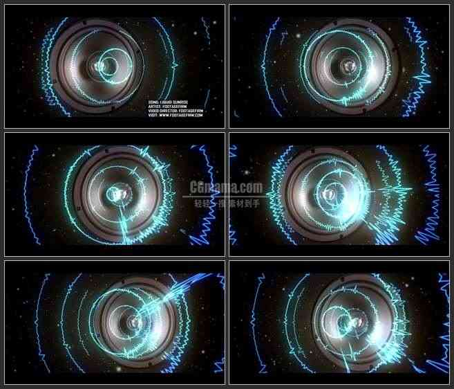 AE3264-LED舞台背景 音响大喇叭 音乐素材