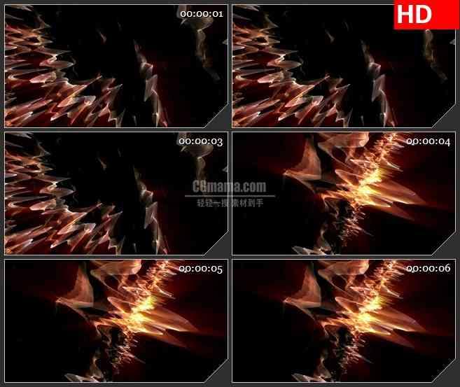 BG2486三维波浪光线旋转高清led大屏视频背景素材