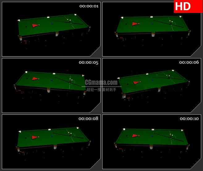 BG2491台球桌面旋转高清led大屏视频背景素材