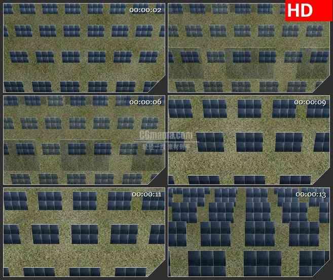 BG2493太阳能面板多方式移动高清led大屏视频背景素材