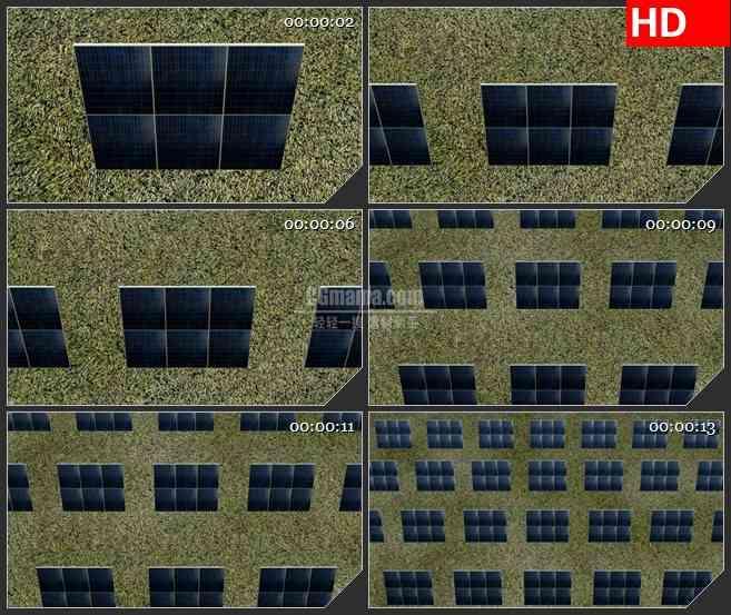 BG2494太阳能面板由近及远移动高清led大屏视频背景素材