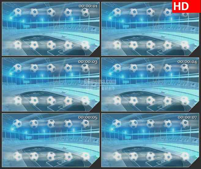 BG2497体育场足球光影旋转高清led大屏视频背景素材