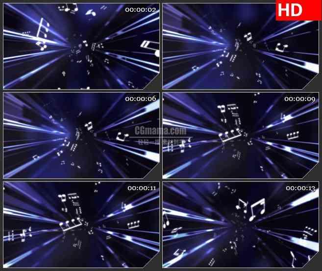 BG2533音符紫色光束空间移动高清led大屏视频背景素材