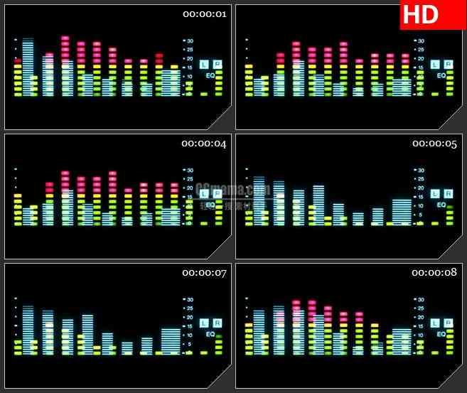 BG2535音频跳动显示高清led大屏视频背景素材