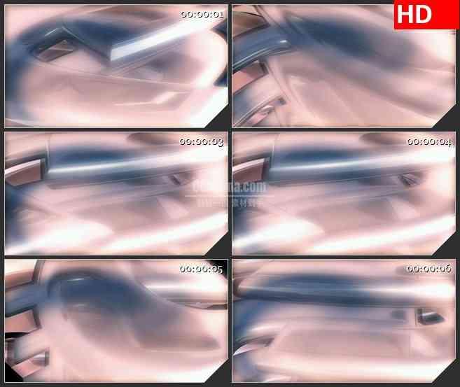 BG2542银白色金属固体旋转高清led大屏视频背景素材
