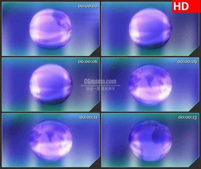 BG2547紫色星球炫光旋转高清led大屏视频背景素材