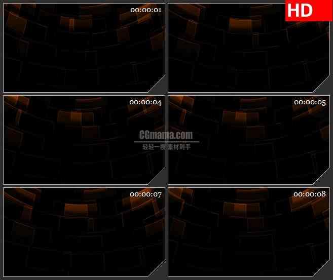 BG2548棕色方块黑色阴影旋转高清led大屏视频背景素材
