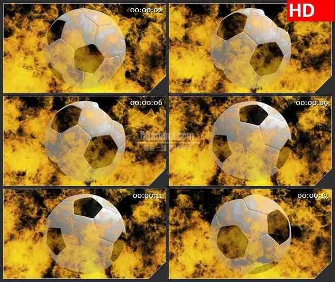BG2551足球火旋转高清led大屏视频背景素材