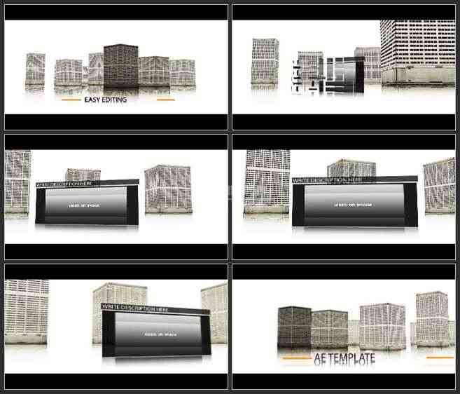AE3298-城市高楼建筑模型 图片视频展示