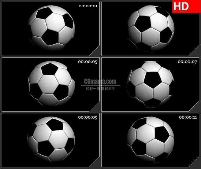 BG2558足球旋转高清led大屏视频背景素材