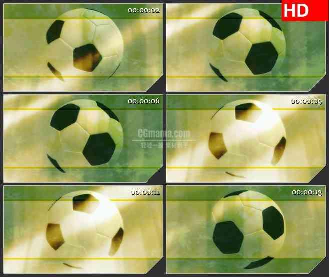 BG2559足球旋转黄色背景炫光高清led大屏视频背景素材