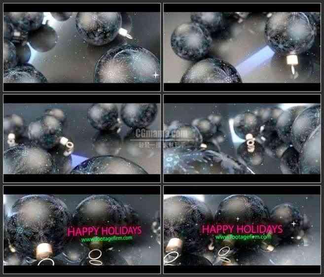 AE3302-滚动的假日彩球 LOGO展示 宣传片头