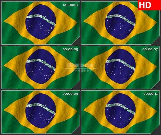 BG2573巴西国旗飘动高清led大屏视频背景素材