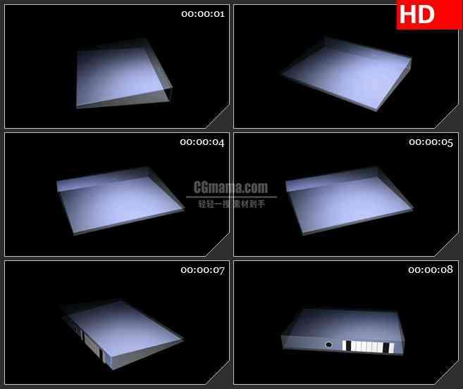 BG2580白色文件夹透视旋转高清led大屏视频背景素材