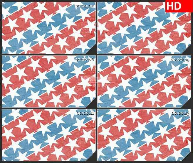 BG2582白色星星蓝红色条纹滚动高清led大屏视频背景素材