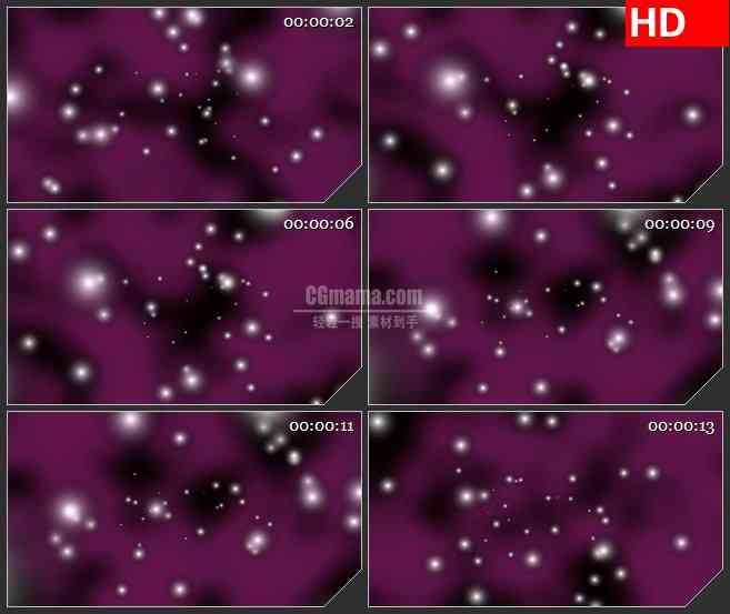BG2583白色荧光粒子漂动紫色背景高清led大屏视频背景素材