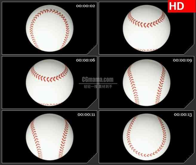 BG2584棒球空间旋转黑色背景高清led大屏视频背景素材