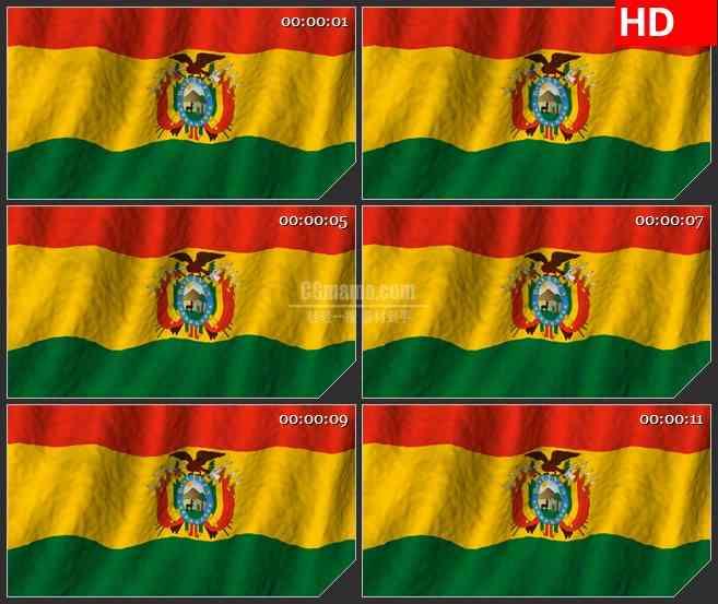 BG2586玻利维亚国旗飘动高清led大屏视频背景素材
