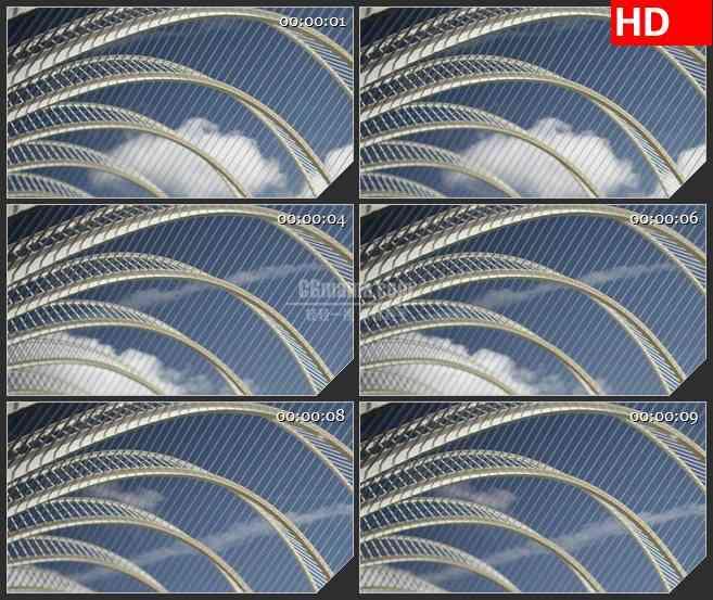 BG2590城市天空白云动态高清led大屏视频背景素材