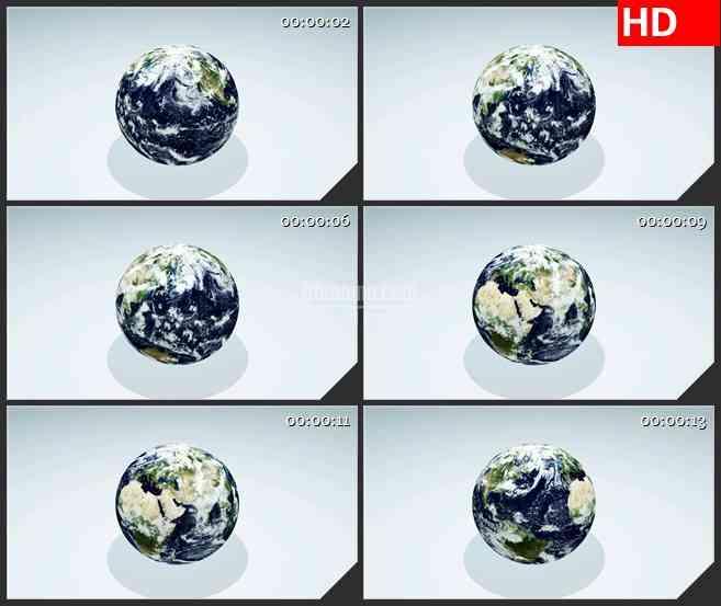 BG2599地球简单旋转白色背景高清led大屏视频背景素材
