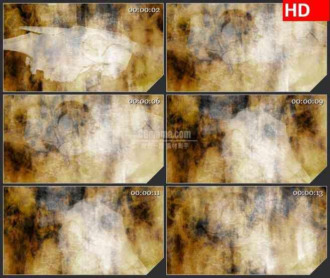 BG2601动物羊头骨幻灯片展示火中燃烧背景高清led大屏视频背景素材