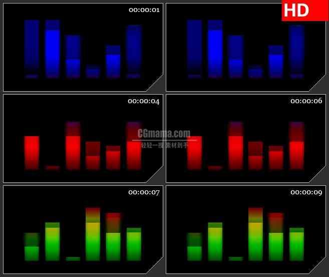 yt19716蓝色梦幻半透明方块条高清led大屏视频背景素材