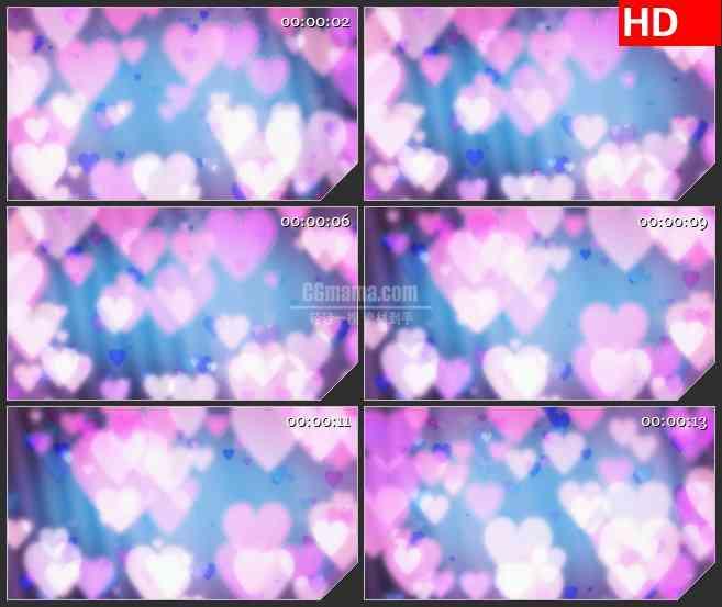 BG2622粉红心柔和灯光梦幻屏幕背景高清led大屏视频背景素材