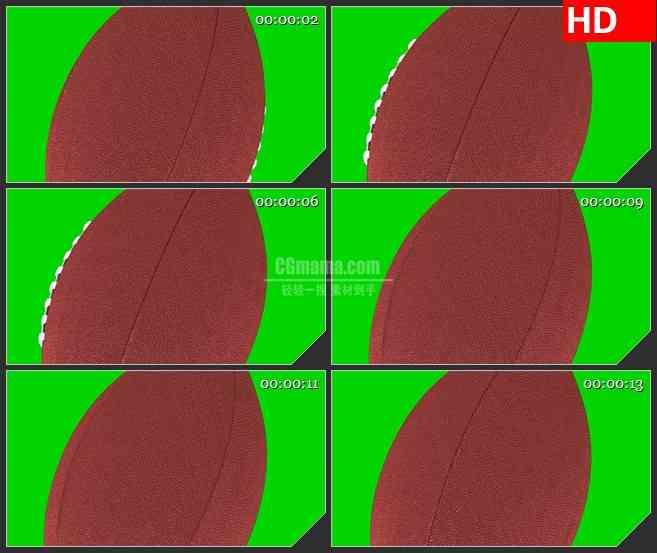 BG2629橄榄球旋转绿色背景高清led大屏视频背景素材