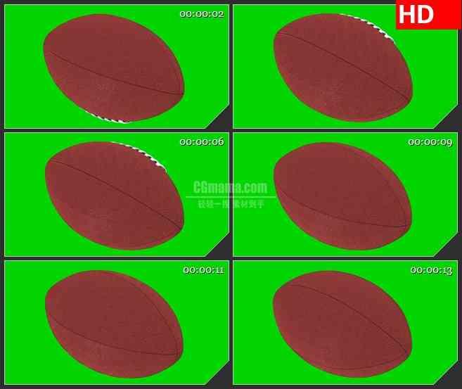 BG2630橄榄球旋转绿色背景2高清led大屏视频背景素材