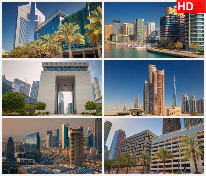 ZY1243阿联酋迪拜特色建筑城市风光高楼大厦延时摄影高清实拍视频素材