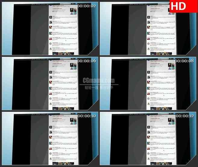 BG2641滚动推特页网络交流快速变化高清led大屏视频背景素材