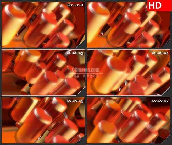 BG2658红头圆柱体空间旋转高清led大屏视频背景素材