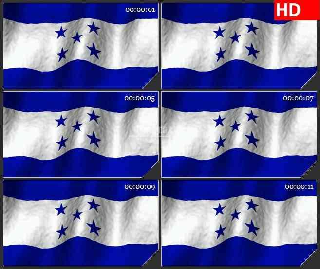 BG2659洪都拉斯国旗飘动高清led大屏视频背景素材