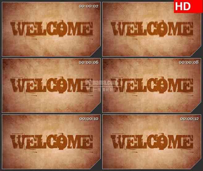BG2666欢迎背景字体跳动橙色屏幕高清led大屏视频背景素材