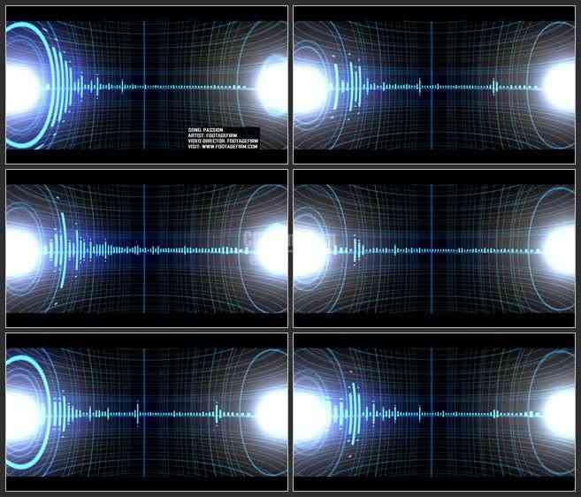 ae3311-led舞台背景 音乐素材 有节奏的声波