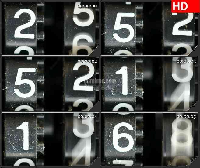 bg2715老式计数器变化高清led大屏视频背景素材