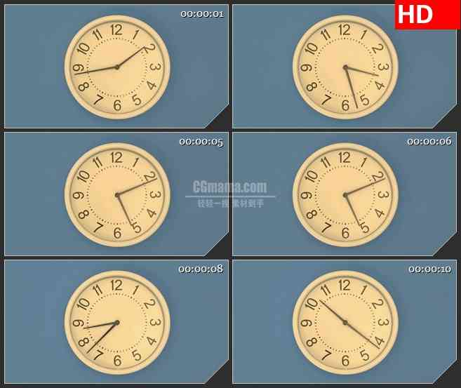 BG2716老式钟表运动高清led大屏视频背景素材