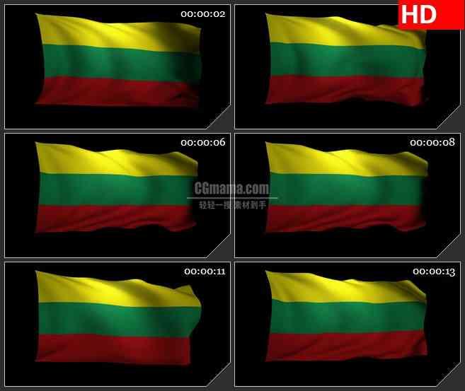 bg2717立陶宛国旗飘动高清led大屏视频背景素材