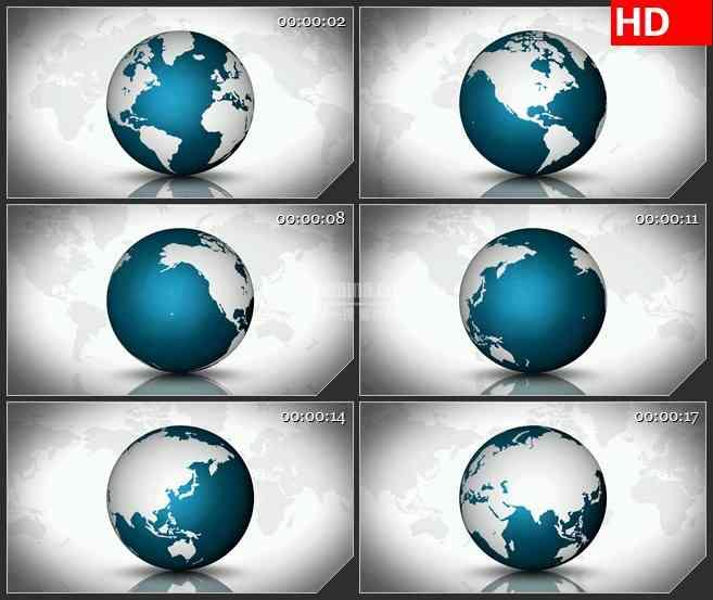 BG2720绿色白色地球空间旋转高清led大屏视频背景素材