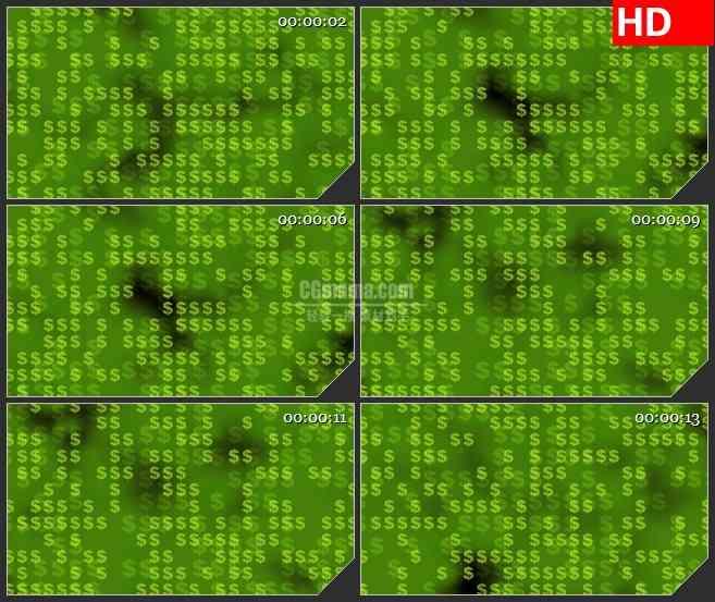 BG2723绿色美元符号高清led大屏视频背景素材