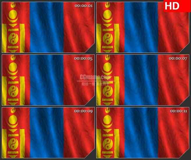 BG2735蒙古旗帜飘动高清led大屏视频背景素材