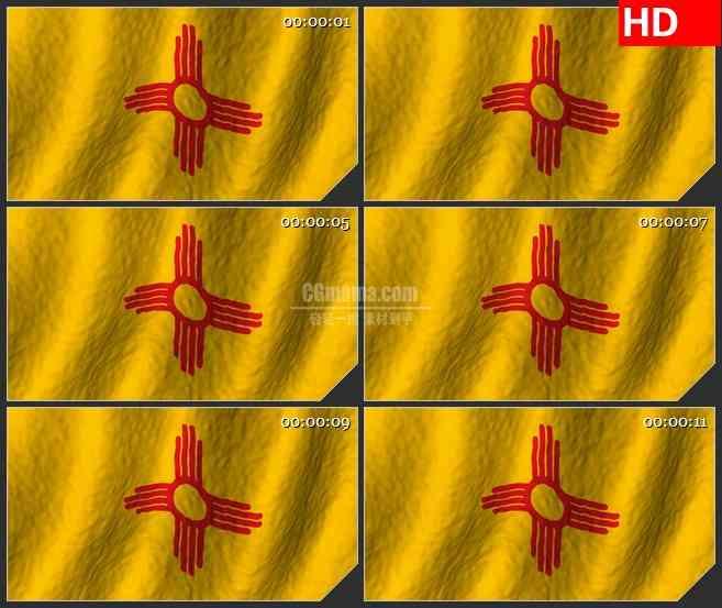 BG2748墨西哥新国旗飘动高清led大屏视频背景素材