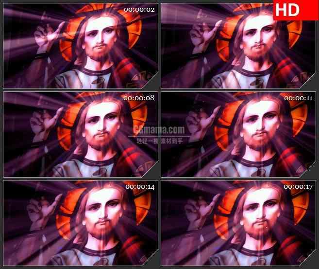 BG2759人物光的儿子散发光芒镜头缓慢移动高清led大屏视频背景素材